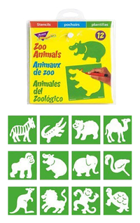 Image for Trend Enterprises Zoo Animal Stencils, Set of 12 from School Specialty