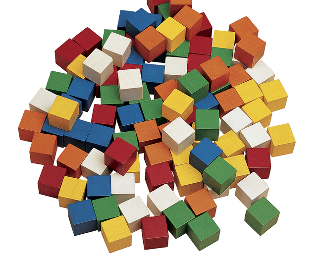 Edx Education Wooden Color Cubes 1 Inch Set Of 102