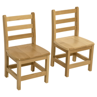 Image for Wood Designs Deluxe Hardwood Chairs, 16-Inch Seat Height, 16 x 14-3/4 x 28-7/8 Inches, Natural, Set of 2 from School Specialty