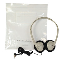 Califone CA-2 Individual Stereo Headphones with Resealable Storage Bag Item Number 335815