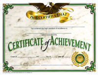 Award Certificates, Item Number 357049