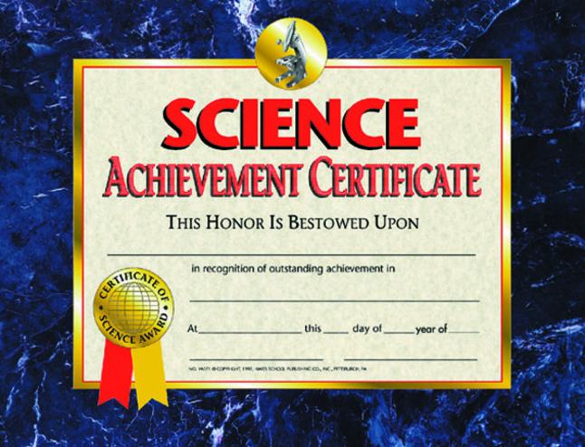 Award Certificates, Item Number 357060