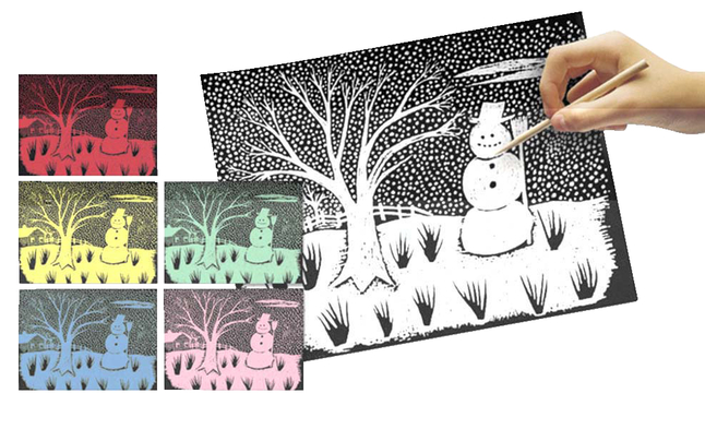 Scratch Art Paper, Scratch Art Boards, Scratch Art Sheets Supplies, Item Number 223362