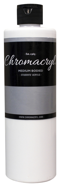 Chromacryl Premium Students Acrylic Paint, Pint, White Item Number 361421