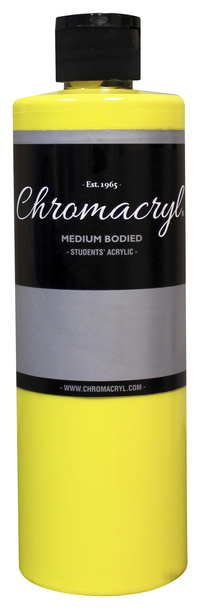 Chromacryl Premium Students Acrylic Paint, Pint, Cool Yellow Item Number 361445