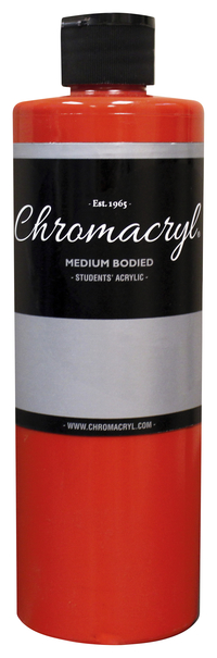 Chromacryl Premium Students Acrylic Paint, Pint, Primary Warm Red Item Number 361457
