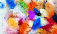 Creativity Street Marabou Feathers, Assorted Colors, 1/2 Ounce Bag, Pack of 150 Item Number 085836