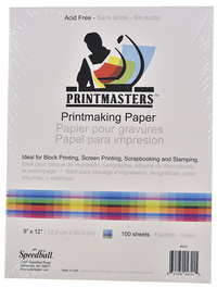 Speedball Print Master Block Printing Paper, 12 x 18 Inches, 60 lb, 50 Sheets Item Number 401658