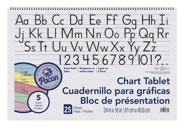 Chart Tablets, Chart Supplies, Item Number 384810