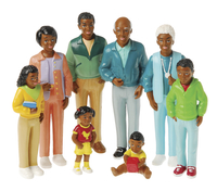Marvel Education Co Play Figures, African-American Family, Vinyl, Set of 8 Item Number 385532