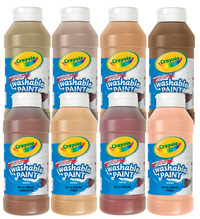 Crayola Washable Paints, Assorted Skin Tone Colors, 8 Ounces, Set of 8 Item Number 391121