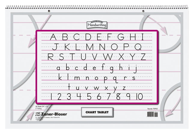 Chart Tablets, Chart Supplies, Item Number 392075