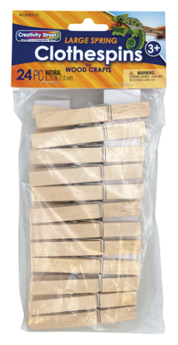 Creativity Street Spring Clothespin, 2-3/4 in, Pack of 24 Item Number 394784