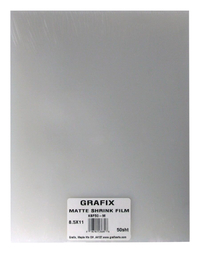 Grafix Shrink Film, 8-1/2 x 11 Inches, Matte, Pack of 50 Item Number 401562