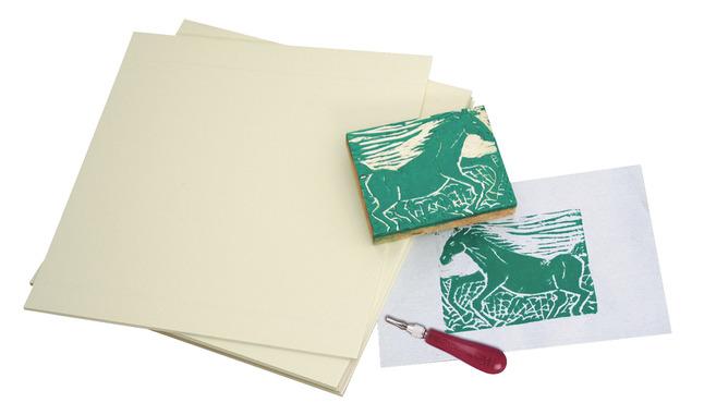 Linoleum Block Printing, Item Number 402396