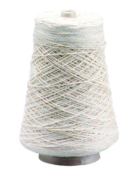 Trait Tex Cotton 4-Ply Heavy Warp and Weft Yarn Cone, 800 yd, Natural Creamy White Item Number 402616