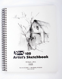 Sax 100 Artist's Sketchbook, 80 lb, 11 x 14 Inches, White Item Number 402684