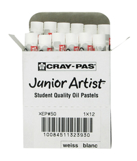 Sakura Cray-Pas Junior Artist Oil Pastels, White, Pack of 12 Item Number 405701