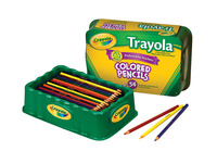 Crayola Trayola Colored Pencils, Full Size, 9 Assorted Colors, Set of 54 Item Number 405785