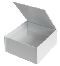 Decorate Me Jewelry Box, 4-7/16 x 4-13/16 x 2-3/16 Inches, White, Pack of 24 Item Number 405817