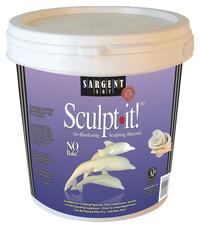 Sargent Art Sculpt it Air-Dry Non-Toxic Sculpting Material, 2 lb, White Item Number 407132