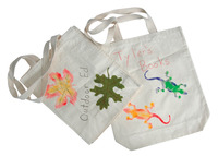 School Smart Design Your Own Canvas Tote Bag, Natural Tone, 11 x 14 Inches Item Number 407352