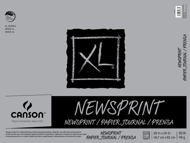 Newsprint Paper, Newsprint Pads, Item Number 407601