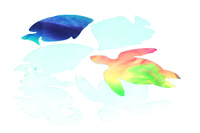 Roylco Sea Life Color Diffusing Paper 7 x 10 Inches, White, Pack of 48 Item Number 407629