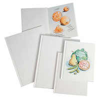 Sax Blanc Books Hardcover Sketchbook, 28 Sheets, 8-1/2 x 11 Inches, Pack of 4 Item Number 409162