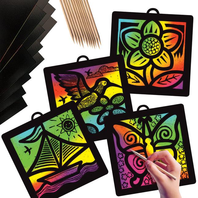 Scratch Art Paper, Scratch Art Boards, Scratch Art Sheets Supplies, Item Number 409262