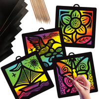 Scratch Art Paper, Scratch Art Boards, Scratch Art Sheets Supplies, Item Number 409262