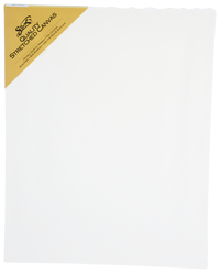 Sax Quality Stretched Canvas, Double Acrylic Primed, 14 x 18 Inches, White Item Number 409744