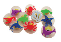 Center Enterprises Giant Sea Creatures Stamp Set with Storage Case, 3 Inch Diameter, Set of 10 Item Number 410444