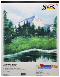 Sax Genuine Primed Canvas Pad, 18 x 24 Inches, White, 10 Sheets/Pad Item Number 410605