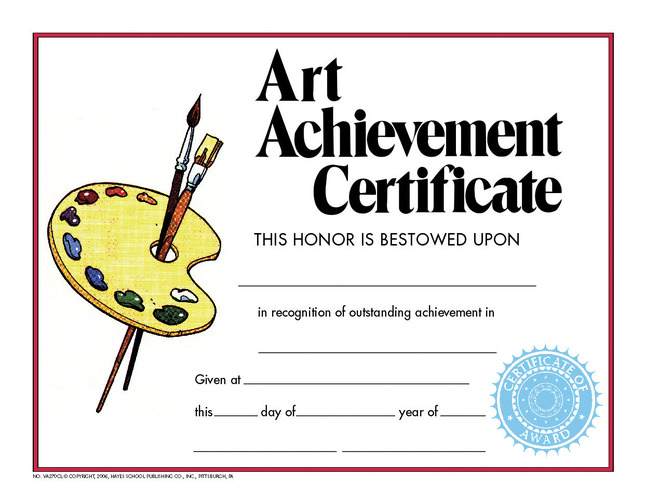 Award Certificates, Item Number 411500