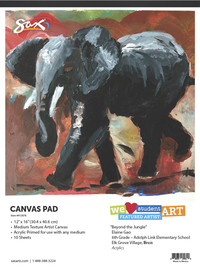 Canvas Pad, Item Number 412676