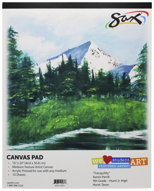Canvas Pad, Item Number 412679