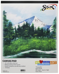 Canvas Pad, Item Number 412679