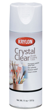 Krylon Acrylic Varnish Spray, Quick Dry, Permanent, 11 Ounce Can, Crystal Clear Item Number 416155