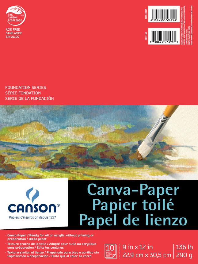 Canvas Pad, Item Number 417151