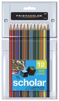 Prismacolor Scholar Colored Pencils, Assorted Colors, Set of 12 Item Number 423352
