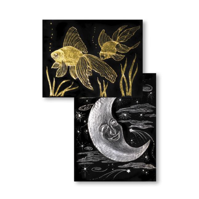 Scratch Art Paper, Scratch Art Boards, Scratch Art Sheets Supplies, Item Number 423441