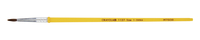 Crayola 1127 Round Economy Good Grade Camel Hair Short Plastic Handle Watercolor Paint Brush, Size 7, 3/4 in Hair, Yellow Item Number 423798