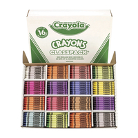 Crayola Crayon Classroom Pack, 16 Assorted Colors, Set of 800 Item Number 424363