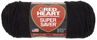 Red Heart Acrylic 4-Ply Dryable Machine Washable Economy Super Saver Yarn, Black, 7 oz Skein Item Number 432023