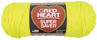 Red Heart Acrylic 4-Ply Dryable Machine Washable Economy Super Saver Yarn, Bright Yellow, 7 oz Skein Item Number 432032