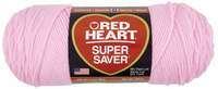 Red Heart Acrylic 4-Ply Dryable Machine Washable Economy Super Saver Yarn, Petal Pink, 7 oz Skein Item Number 432041