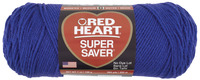 Red Heart Acrylic 4-Ply Dryable Machine Washable Economy Super Saver Yarn, Royal Blue, 7 oz Skein Item Number 432053