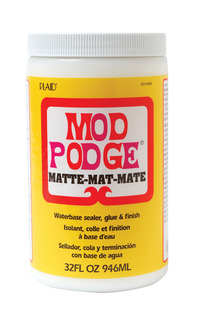 Mod Podge Sealer and Finish, Matte, 1 Quart Jar Item Number 455291