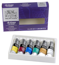 Winsor & Newton Artisan Water-Mixable Oil Color Set, Assorted Colors, Set of 10 Item Number 1300274